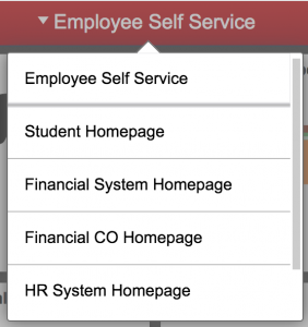Fluid menu > Employee Self-Service