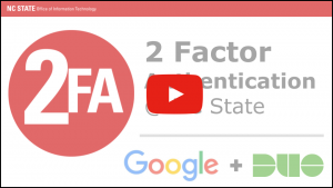 Video to demonstrate 2 factor authentication