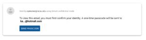 Screenshot for passcode