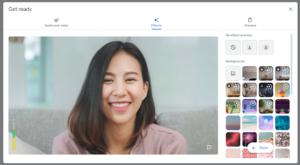 Google Meet Settings Panel